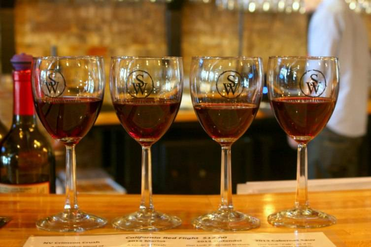 We enjoyed a flight of red wine at Sloan and Williams Winery.