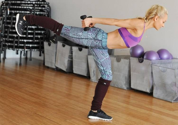 "attends Under Armour Ambassador Simone De La Rue, Launches Her First Body By Simone DVD ""The Signature Classes"" At Her LA Studio on January 20, 2016 in West Hollywood, California."