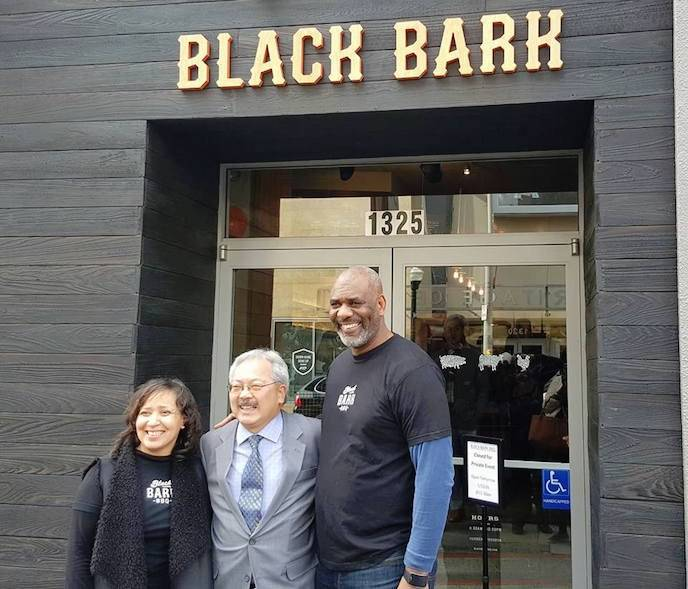 Monetta White, Mayor Ed Lee and Chef David Lawrence