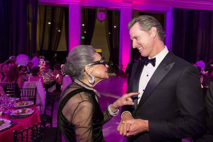 Joy Venturini Bianchi and Gavin Newsom