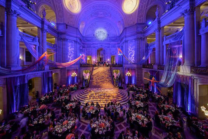 San Francisco Ballet's Grand Benefactor Dinner in the Rotunda of San Francisco City Hall