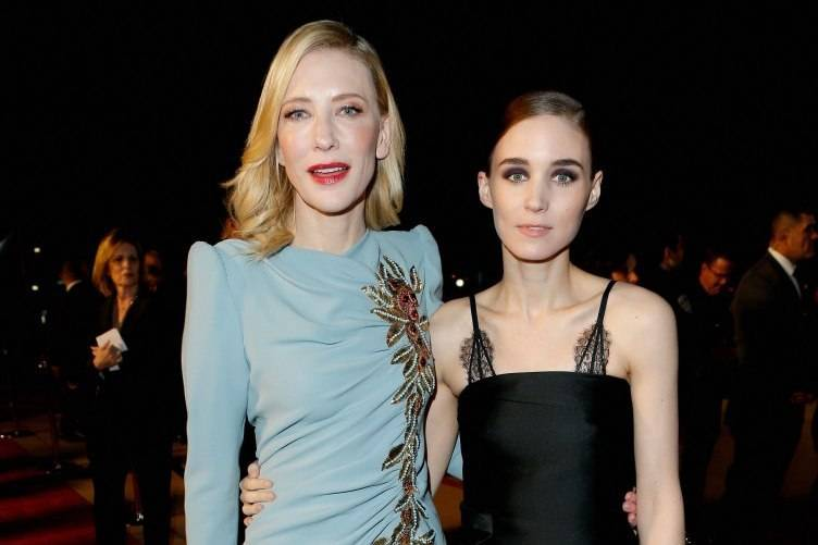Cate Blanchett (L) and Rooney Mara attend the 27th Annual Palm Springs International Film Festival