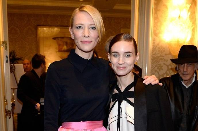 Cate Blanchett (L) and Rooney Mara attend the BAFTA Los Angeles Awards Season Tea at Four Seasons Hotel Los Angeles at Beverly Hills on January 9
