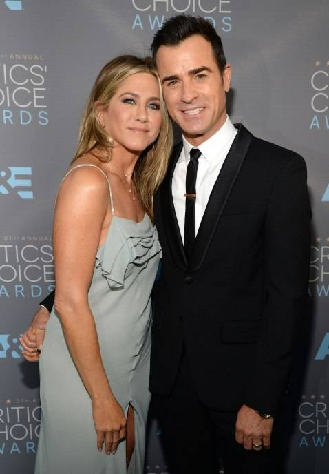 Jennifer Aniston and Justin Theroux attend the 21st Annual Critics' Choice Awards