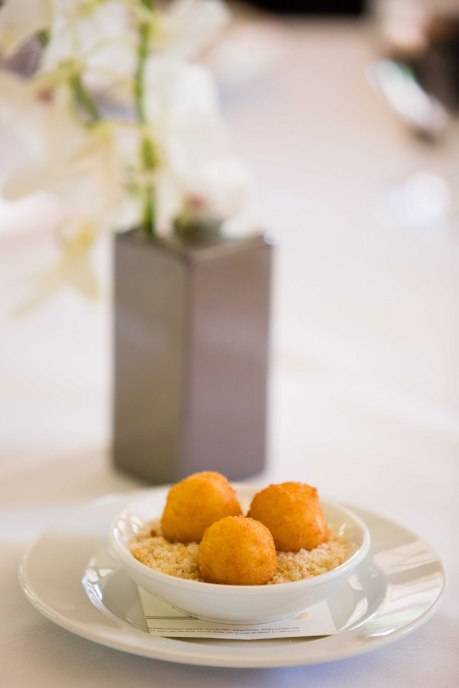Chef Mace served a delightful amuse bouche to guests of the Palm Beach Wine Auction's Committee Luncheon kick-off event held at Café Boulud.