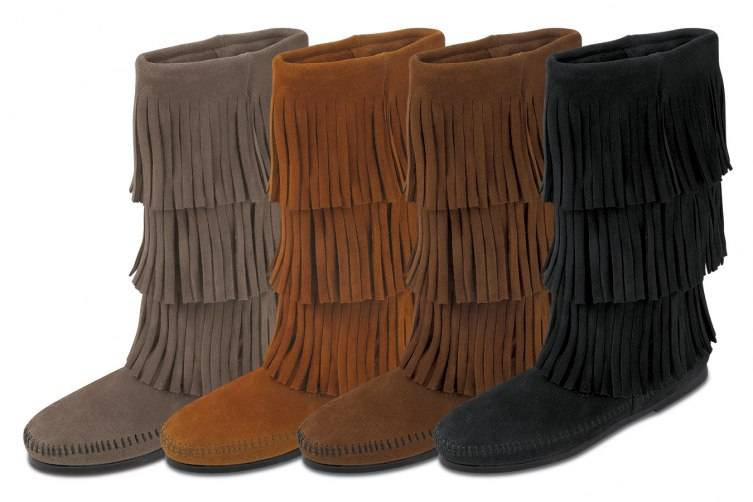 Boot_Calf Hi 3 Layer Fringe