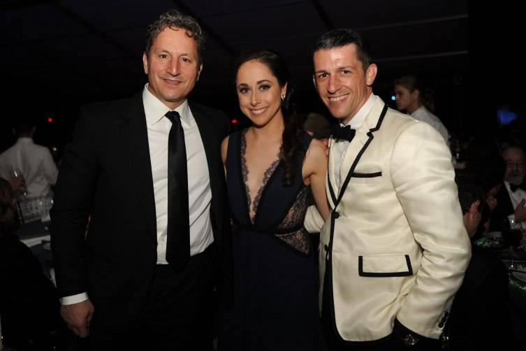 David Herro & Jay Franke with MCB Dancer, Leigh-Ann Esty at MCB's 30th Anniversary Gala