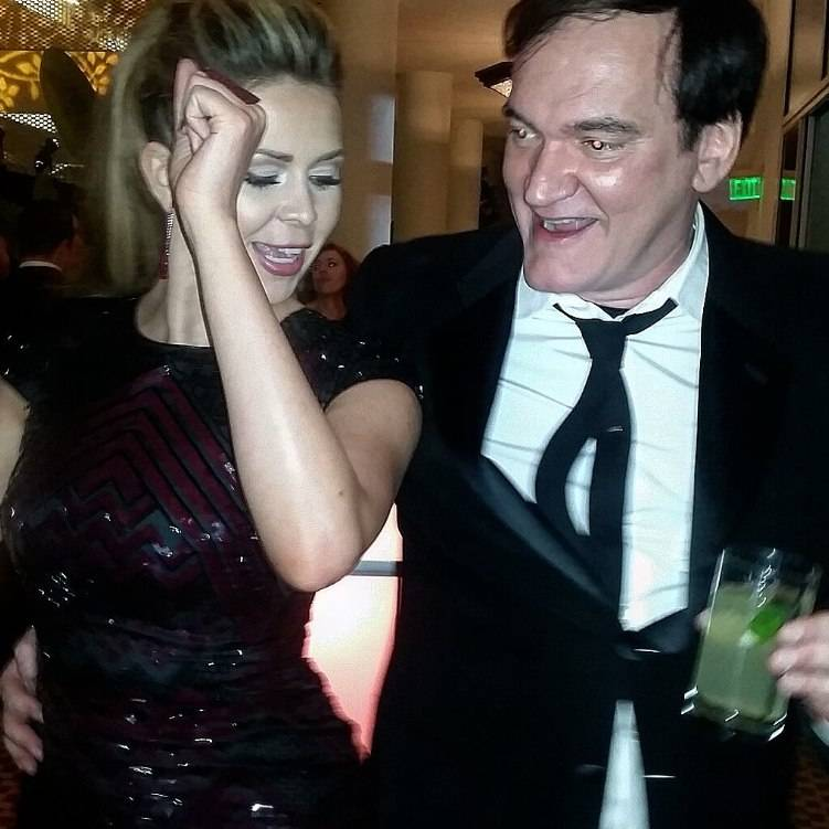 Dancing on the VIP balcony with Quentin Tarantino