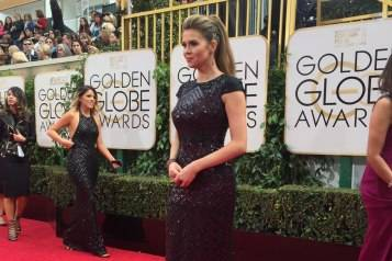 PIC 8_Posing on the Golden Globes lengthy red carpet
