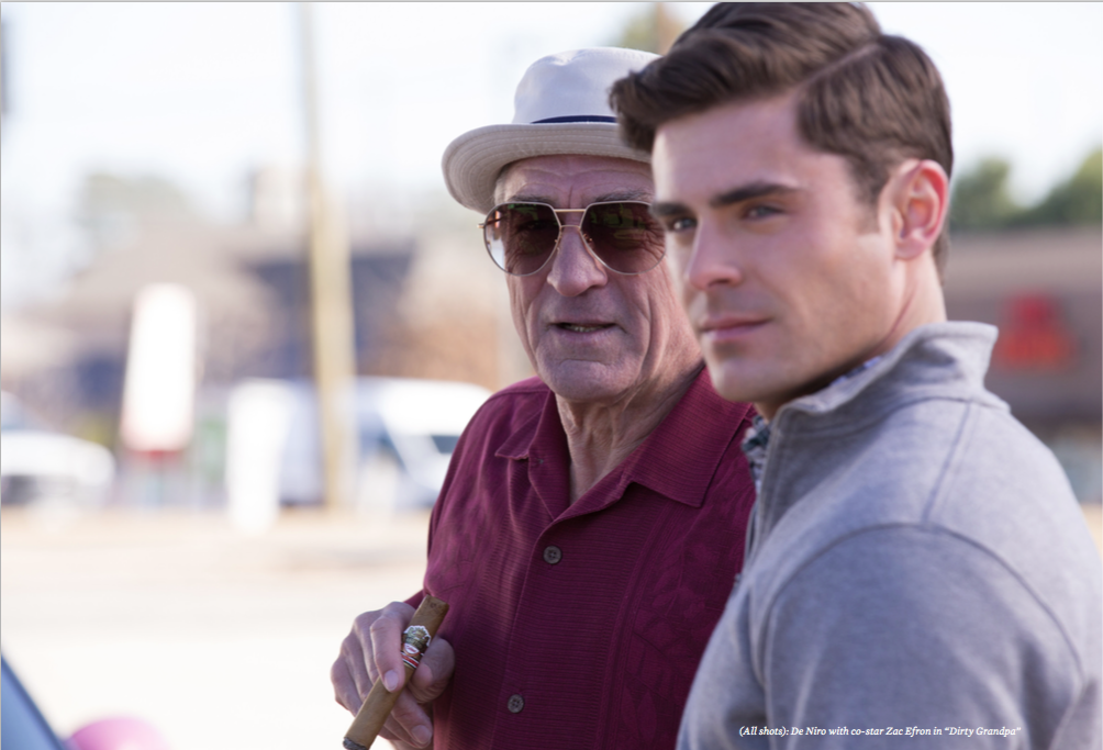 Robert De Niro Zac Efron Dirty Grandpa