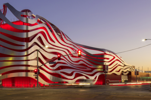 The Petersen Automotive Museum's exterior