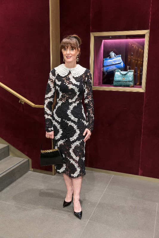 Allison Speer attends Dolce & Gabbana boutique opening party.
