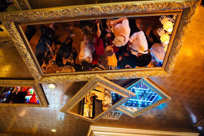 Mirrored ceiling