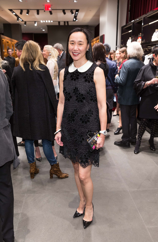 Carolyn Chang attends the Dolce & Gabbana boutique opening party.