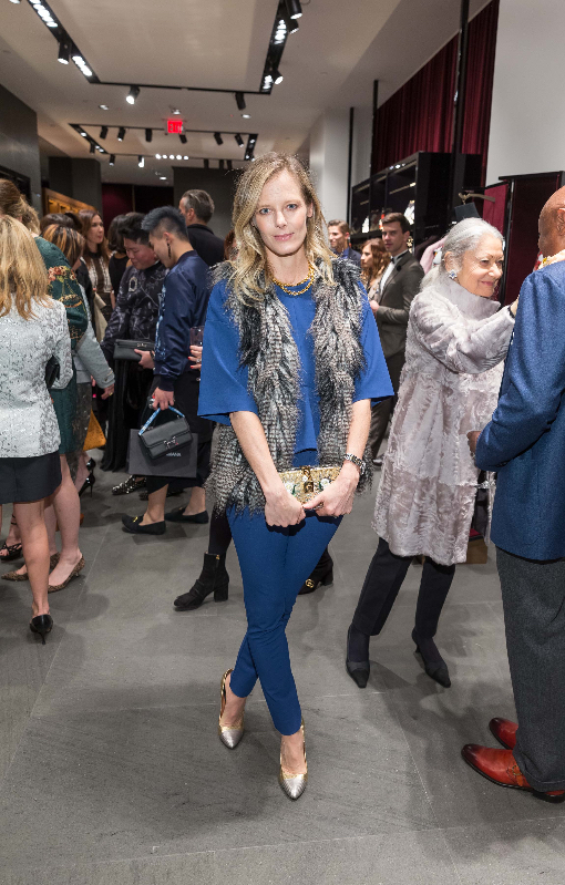 Katie Traina attends the D&G boutique opening party.
