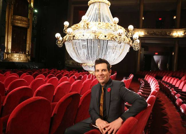 Chris Mann (Phantom) and the iconic chandelier