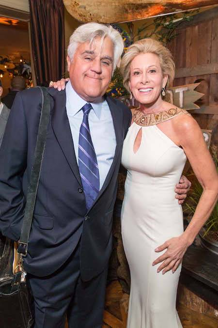 Jay Leno and Jillian Manus at The Giving Back Fund's Big Game, Big Give gala