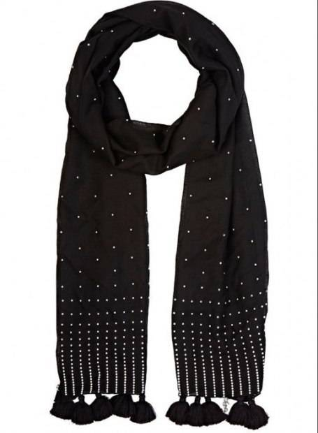 Saint Laurent Embellished Scarf