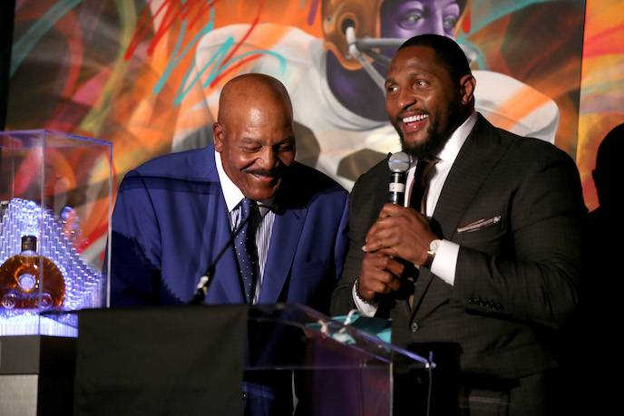 Jim Brown and Ray Lewis