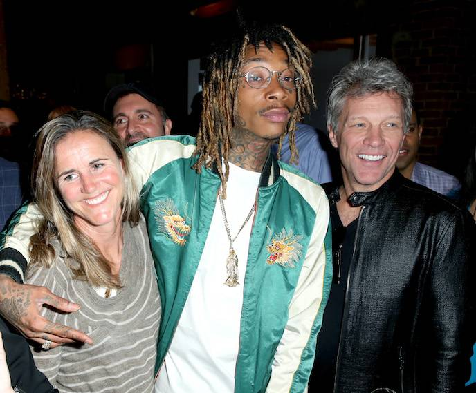 Brandi Chastain, Wiz Khalifa and Jon Bon Jovi