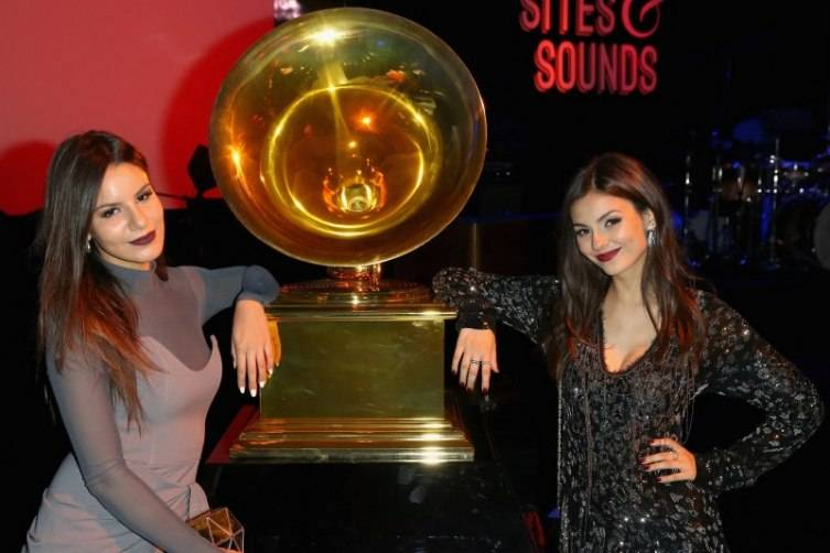 "Madison Justice (L) and actress Victoria Justice attend Delta Air Lines Toasts GRAMMY Weekend with ""Sites and Sounds"""
