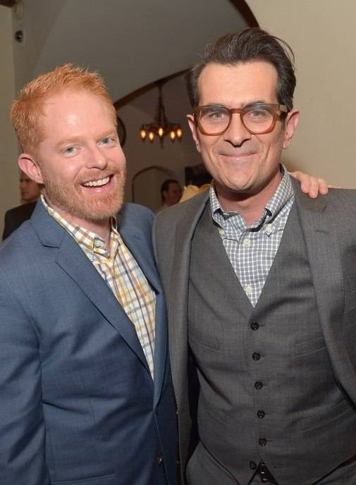 Jesse Tyler Ferguson (L) and Ty Burrell attend the Cadillac Oscar Week Celebration at Chateau Marmont