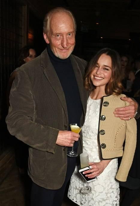 Charles Dance (L) and Emilia Clarke