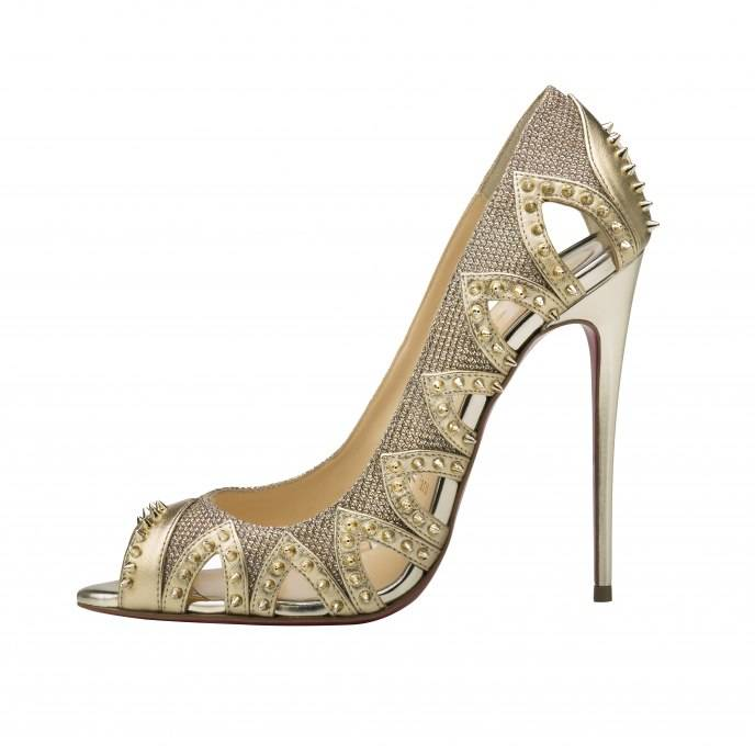 Christian Louboutin Circus City 120 Nappa Silk Version Gold