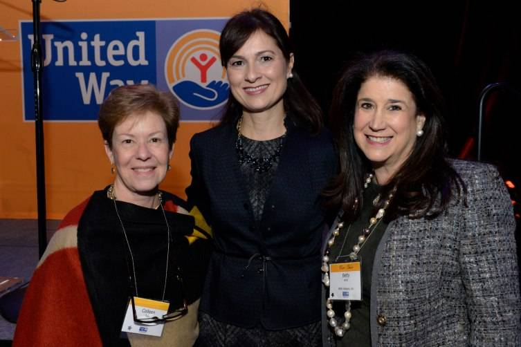 Colleen Fain, Rosary Plana Falero, chair of United Way of Miami-Dade's Women's Leadership, and Betty Wohl