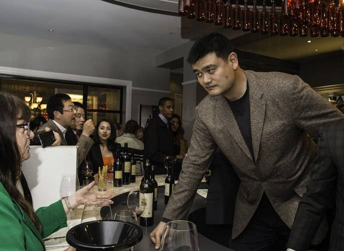 Yao Ming at Yao Family Wines Tasting Room and Hospitality Center