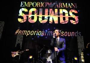 Brandon Flowers performs onstage during Emporio Armani Sounds Los Angeles at NeueHouse Los Angeles