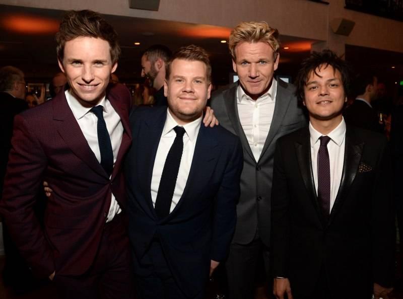 Eddie Redmayne, James Corden, Gordon Ramsay and Jamie Cullum attend the Film is GREAT Reception