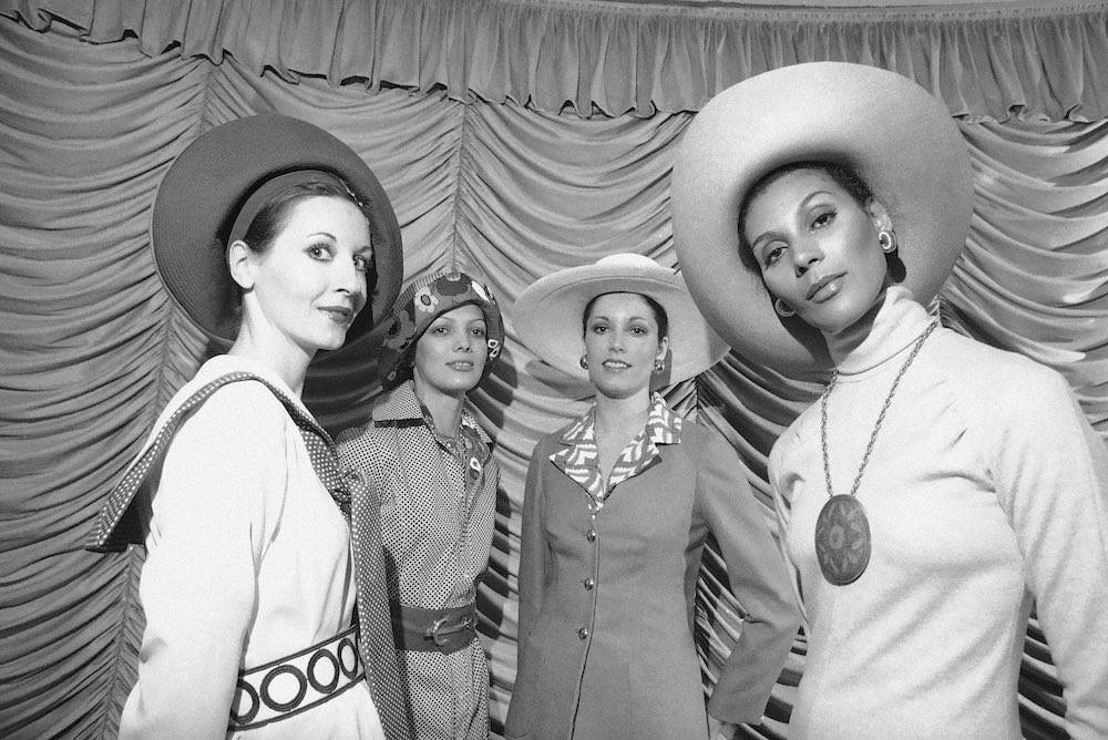 New York couture council's press week, Jan. 7, 1972 (AP Photo/Ray Stubblebine)