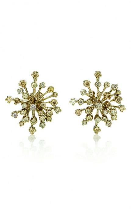 H.Stern Snowflake Earrings in 18K Noble Gold with diamonds