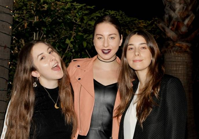 Alana Haim, Este Haim and Danielle Haim of Haim attend dFm's Grammy Celebration