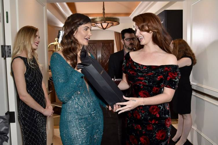 Julia Jackson and Lana Del Rey at The Weinstein Company Pre-Oscar Dinner