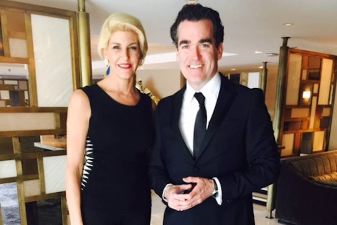 Karen Caldwell and Spotlight Oscar winner Brian d'Arcy Adams