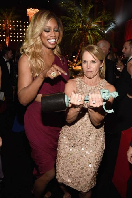 Laverne Cox and Katie Couric