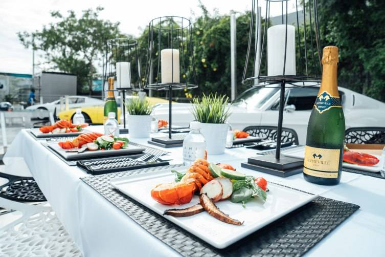 Lobster Lunch at Miami Supercar Rooms