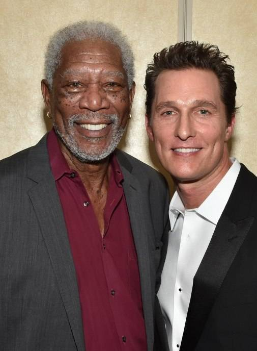 Morgan Freeman and Matthew McConaughey