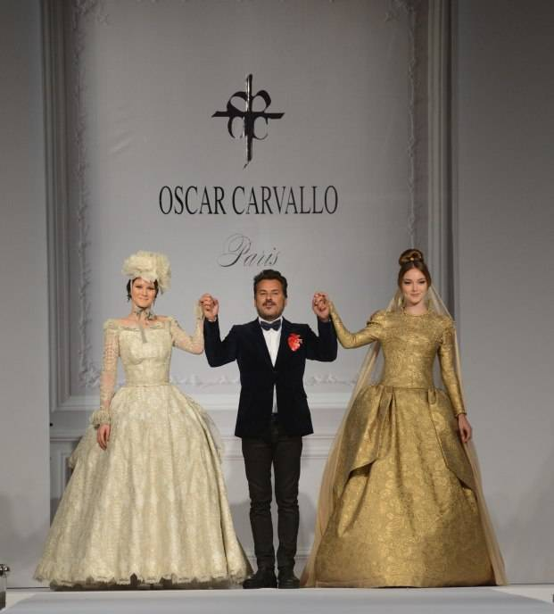 Oscar Carvallo Fashion Final with patient Alessandra in white