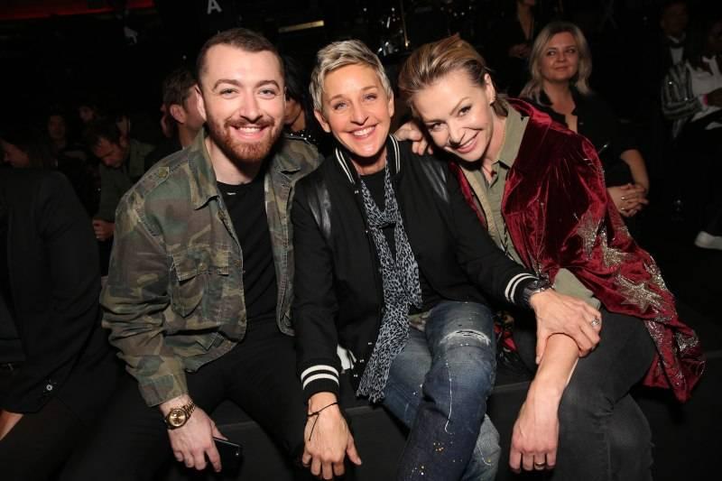 Sam Smith, Ellen DeGeneres & Portia de Rossi
