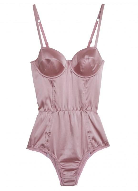Satin Bullet Bodysuit_Rose Pink FLAT