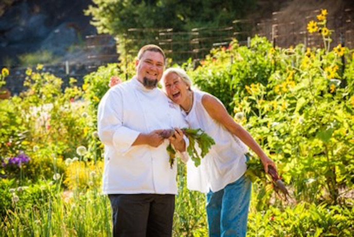 Chef Mike Ward and Master Gardener Diane Dovholuk