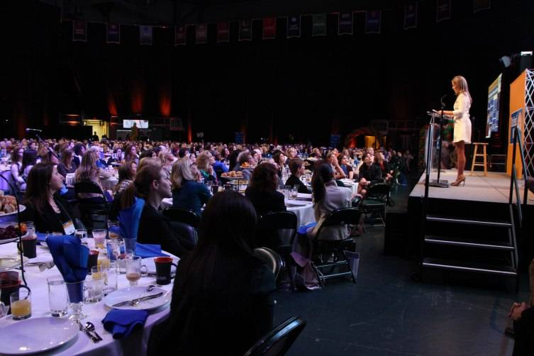 Aerin Lauder, United Way Women's Leadership Breakfast's keynote speaker, addresses the more than 1,000 women in attendance