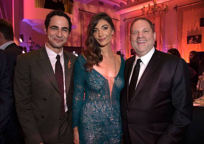 Zac Posen, Julia Jackson and Harvey Weinstein at The Weinstein Company Pre-Oscar Dinner