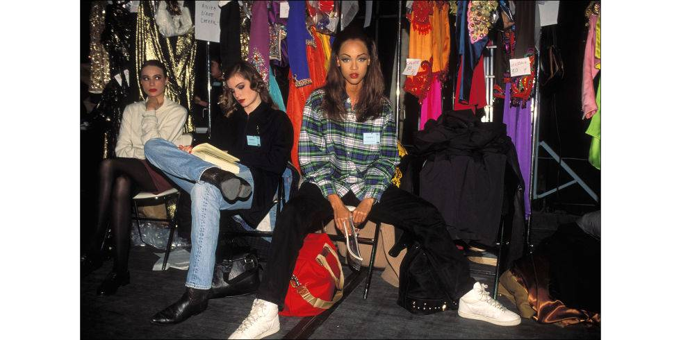 Tyra Banks at Yves Saint Laurent, 1992