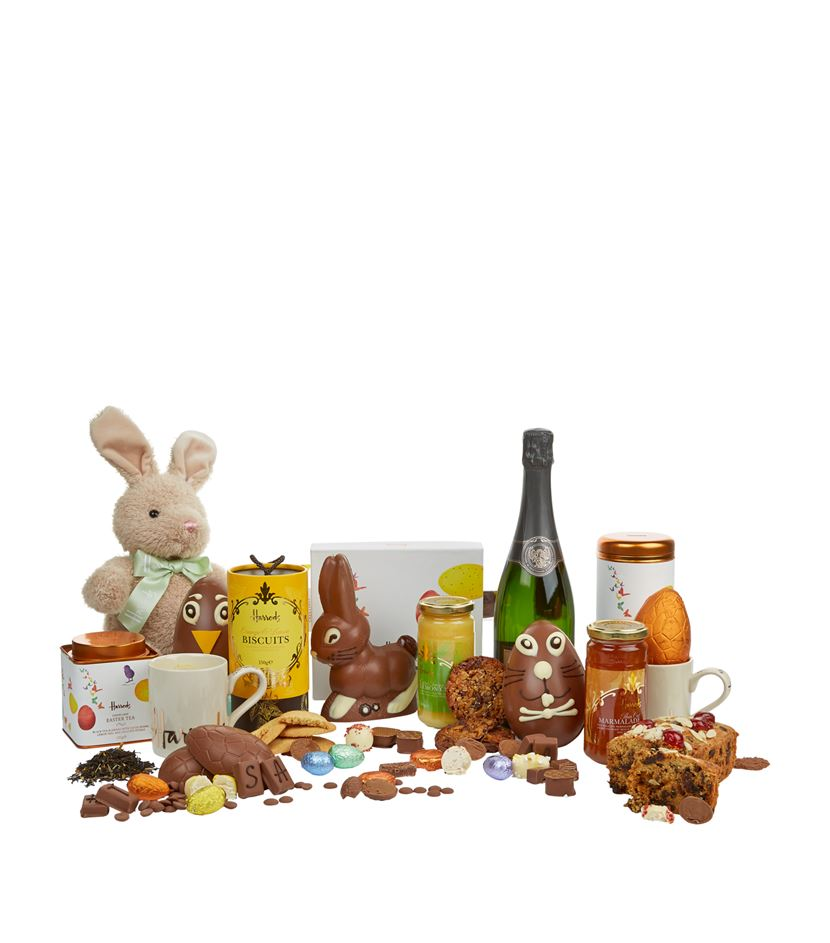 5 decadent easter baskets for toddlers tweens and adults if youre looking for the ultimate basket for the entire family look no further harrods family easter feast hamper boasts a number of luxe items that negle Choice Image