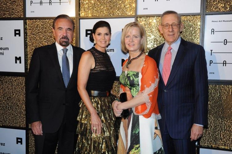 Jorge M. Pérez, Darlene Pérez, Kara Ross & Stephen Ross photo by Juan E. Cabrera