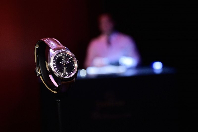 OMEGA watch on display at the launch of the Globemaster, the worlds first master chronometer